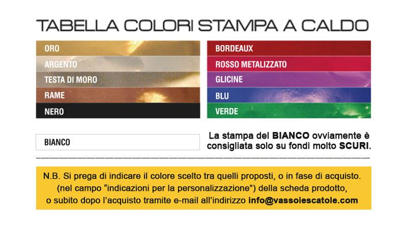 tabella colori stampa a caldo